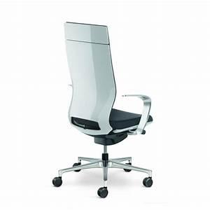 Fauteuil Haut Dossier : fauteuil de direction moteo style blanc avec haut dossier et accoudoirs design ~ Teatrodelosmanantiales.com Idées de Décoration