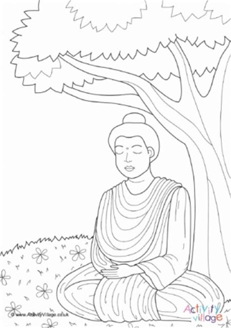 buddha colouring page