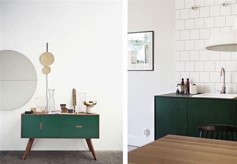 meuble cuisine vert la fabrique à déco une déco en couleurs du vert dans la
