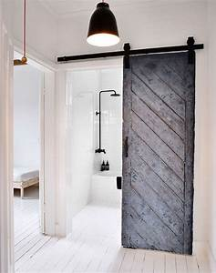 Eccentric modern barn doors providing unique interior for Modern barn doors for a unique home
