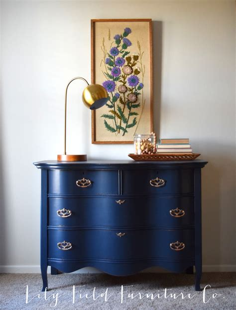 navy dresser makeover fusion midnight blue field co