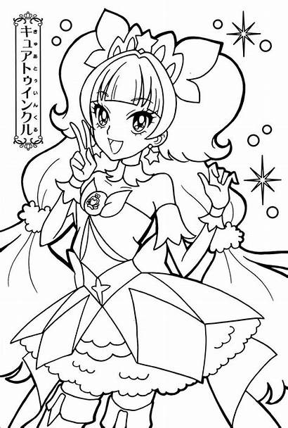 Coloring Pages Glitter Anime Force Sheets Precure