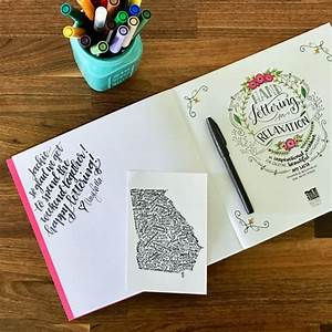 learn hand lettering the easy way school of decorating With best hand lettering books for beginners