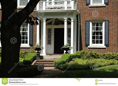 front entrance of house front entrance with urns stock photo image of grass porch 925908
