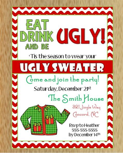 ugly christmas sweater invitation 2 shops mothers and i want