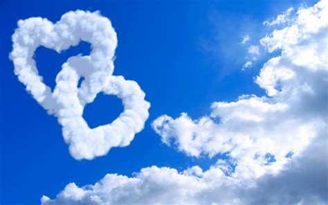 hearts  clouds wallpapers hd wallpapers id