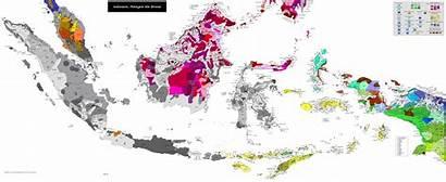 Indonesia Map Malaysia Linguistic Languages Brunei Bahasa