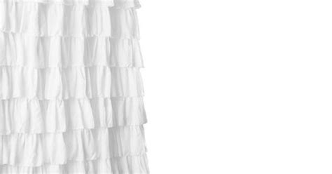 Lush Décor Large Ruffle Shower Curtain (also In Purple) Tab Top Curtains Spotlight How To Measure Curtain Ring Size Rv On Tracks Hanging Too High Factory Outlet Raynham Ma Hours Ideas For Shower In Bathroom Extra Large Windows Red Theater Background
