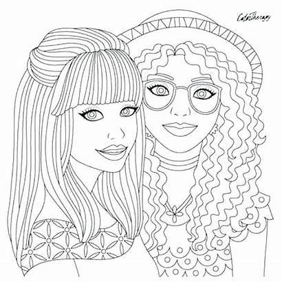 Coloring Hair Pages Adults Printable Therapy Brush