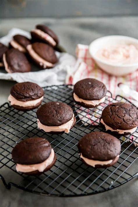 chocolate whoopie pies  cherry filling lemons  lulu