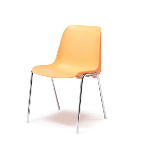 plastic stacking chair orange aj products
