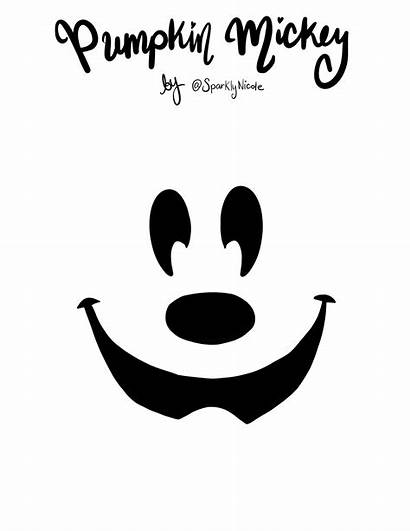 Mickey Pumpkin Carving Stencil Disneyland Mouse Face