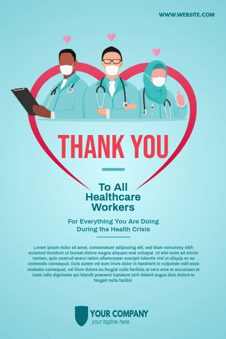 healthcare workers poster template postermywall