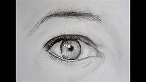 Dessin Facile Yeux : tutoriel dessiner un oeil r aliste youtube ~ Melissatoandfro.com Idées de Décoration
