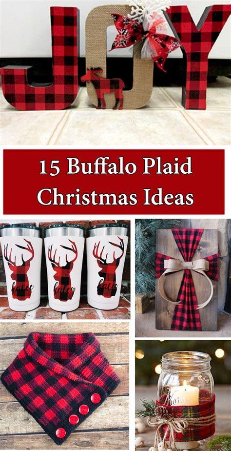 buffalo plaid christmas ideas plaid christmas