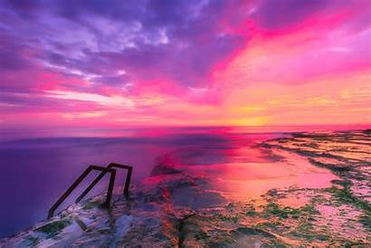 Sky Colored Multi Colorful Sunset Clouds Spain