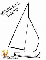 Coloring Boat Pages Sailing Ship Template Catamaran Yescoloring Printable Boats Superb sketch template