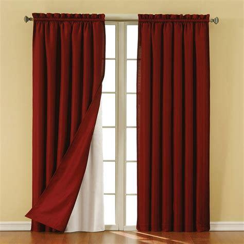 Blackout Drape Liner - eclipse thermaliner white blackout energy saving curtain