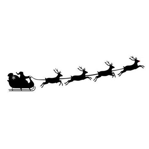 santa sleigh silhouette ideas  pinterest