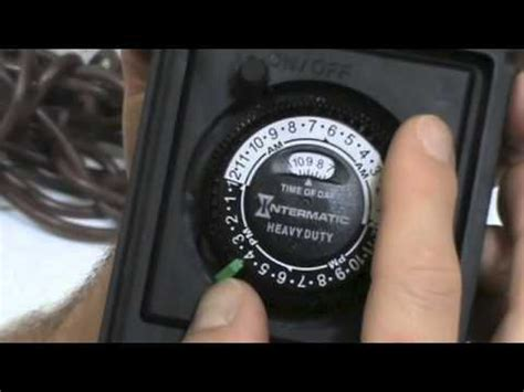 how to put outdoor lights on a timer intermatic timer youtube