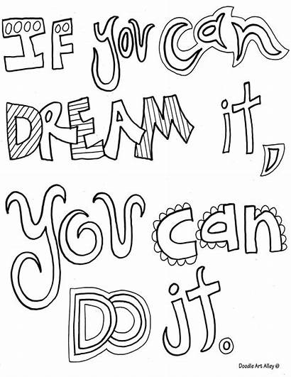 Coloring Doodle Quote Alley Quotes Inspirational