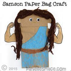 samson paper bag puppet for children s ministry from www 352 | 770a3b4a52f24bb6033c1b4e8c0e0863