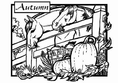 Coloring Adults Pages Fall Autumn Farm