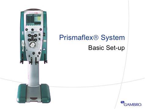3 Prismaflex Basic Setup Operation
