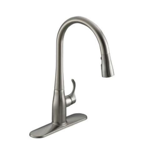 pull kitchen faucet kohler bellera single handle pull sprayer kitchen