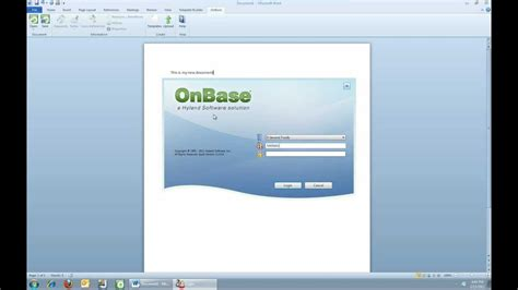 Hyland Software - MS Office Integrations for OnBase.wmv ...