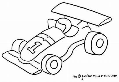 Mewarnai Mobil Gambar Balap Contoh Anak Untuk