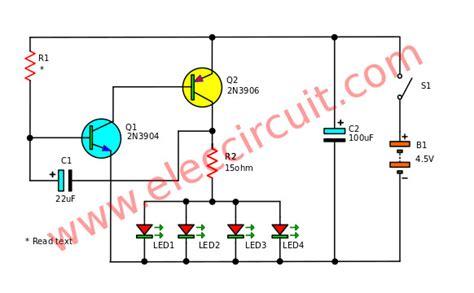Fast Blinking Led Bike Light Circuit Eleccircuit