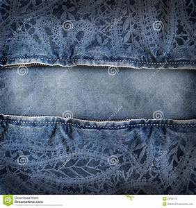 Background Denim Texture With Lace Pattern Stock ...