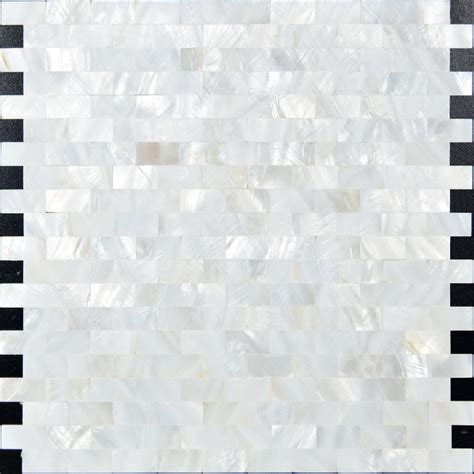 white mother of pearl shell tiles mosaic sheets subway
