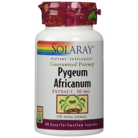 pygeum africanum extract 50 mg 60 capsules by solaray