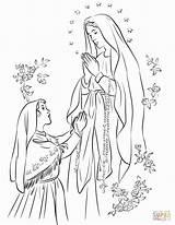 Lourdes Lady Coloring Fatima Matka Catholic Printable Colorare Maria Colorir Fatimska Senhora Nossa Boska Kolorowanka Maryja Madonna Adult Supercoloring Disegno sketch template