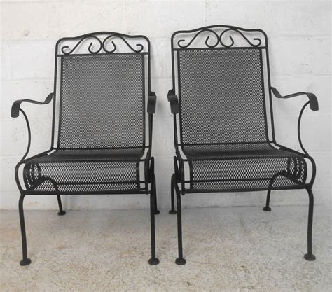 set of ornate cast iron patio chairs for sale at 1stdibs