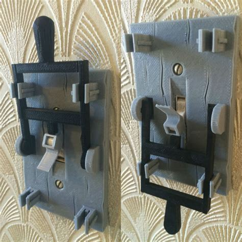 printed frankenstein light switch plate shut