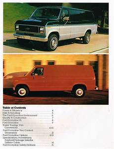 1984 Ford Econoline Van Brochure    Catalog W  Color Chart