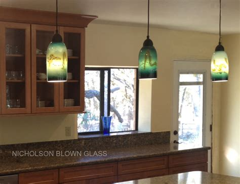 nicholson blown glass pendant lighting
