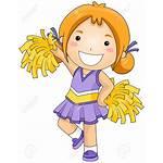Cheerleader Clipart Cheer Dance Cheerleading Children Cartoon