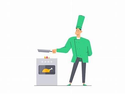 Animation Cooking Explain Animated Ninja Bolt Dribbble