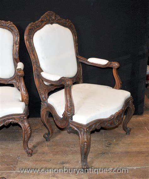 set  chippendale mahogany arm chairs dining chair ball