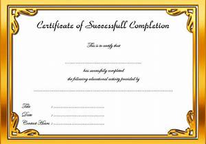 certificate of participation template ppt - certificate of completion template 3 the best template