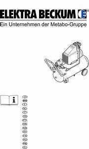 Download Elektra Beckum Air Compressor Basic 270 Manual