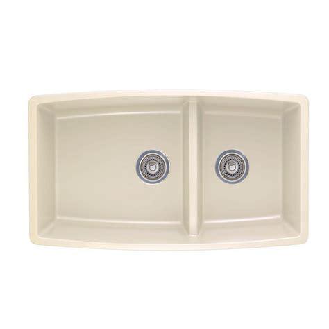 kitchen sinks undermount granite composite blanco performa undermount granite composite 33 in 0 hole