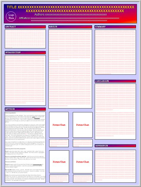 free poster design templates posters4research free powerpoint scientific poster templates