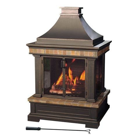 costco kitchen faucets sunjoy amherst 35 in wood burning outdoor fireplace l