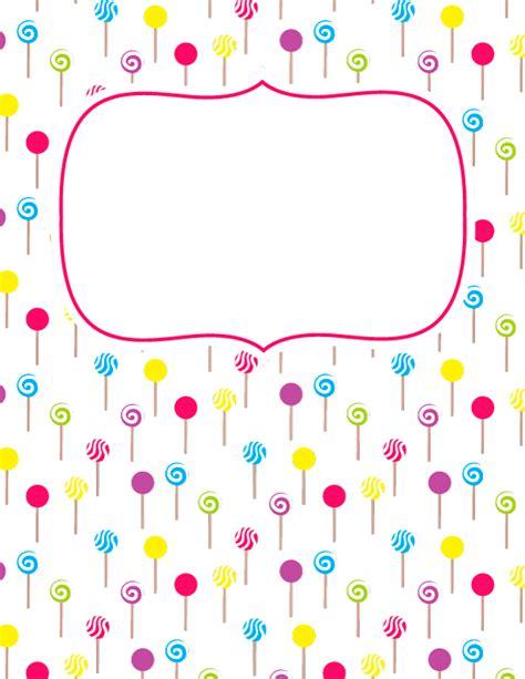 Deer Lollipop Cover Template Pdf by Free Printable Lollipop Binder Cover Template Download