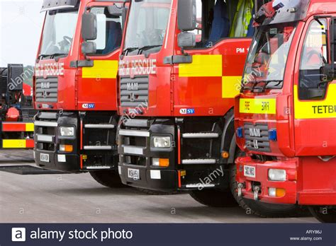 parked fire engines stock  parked fire engines